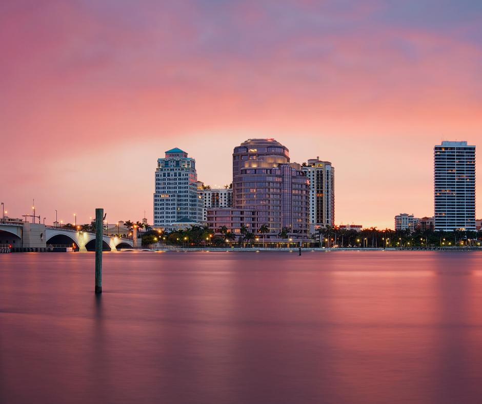 Palm Beach- night skyline