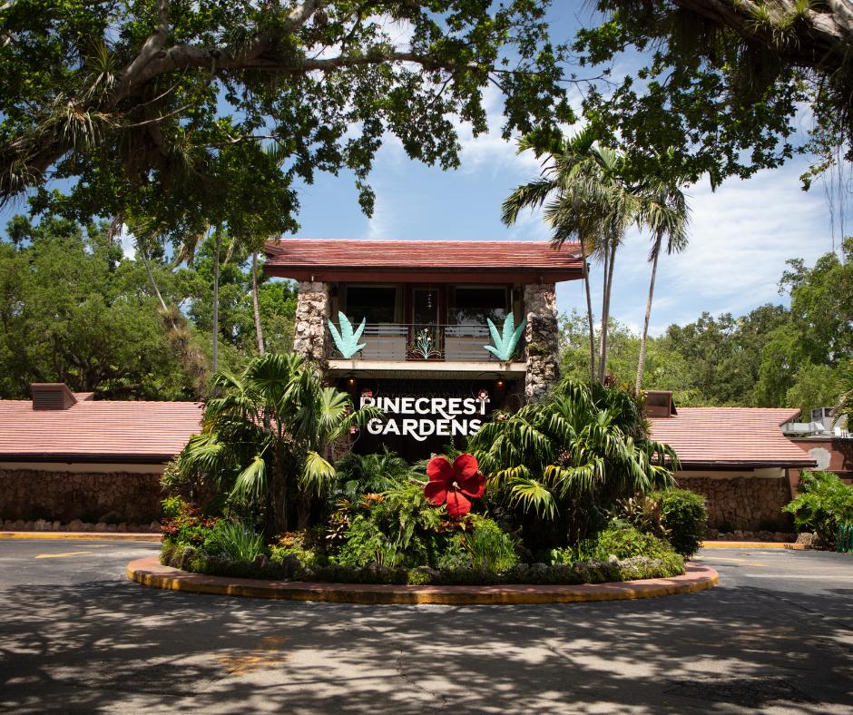 Pinecrest gardens sign